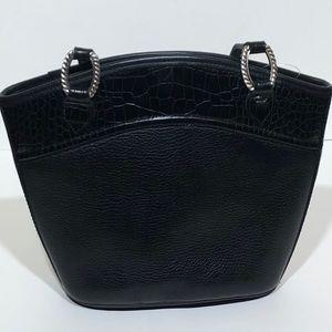 Brighton Black Embossed Leather Bag